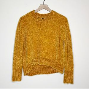 Romeo+Juliet Mustard Yellow Chenille Sweater